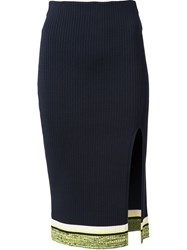 Rag And Bone Rag And Bone Side Slit Pencil Skirt Blue