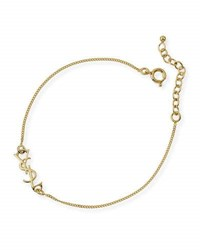 Saint Laurent Monogram Golden Chain Bracelet