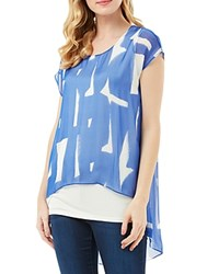 Phase Eight Tula Printed Silk Blouse Blue Multi