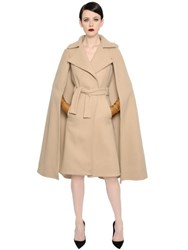 Gareth Pugh Belted Wool Cape Coat