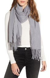 Trouve Solid Scarf Grey Lilac