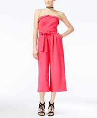 Xoxo Juniors' Strapless Culotte Jumpsuit Pink