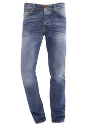 Nudie Jeans Steady Eddie Straight Leg Crispy Crumble Blue Denim