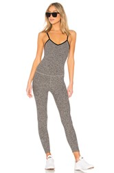 Beyond Yoga Spacedye Elevation Capri Bodysuit Gray