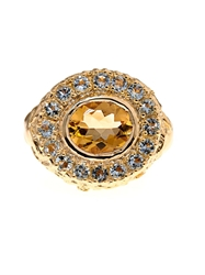 Jade Jagger Citrine And Aquamarine Gold Plated Ring
