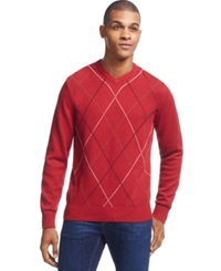 Geoffrey Beene Big And Tall Harlequin Sweater Wine