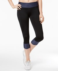 Ideology Cropped Performance Leggings Only At Macy's Navy Serenity