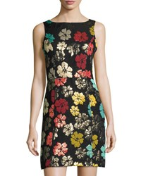 Maia Floral Brocade Fit And Flare Dress Multi Pattern