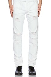 Stampd Distressed Essential Jean White