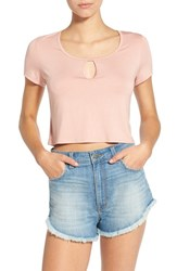 Women's Ten Sixty Sherman Crop Scoop Neck Tee Dusty Pink