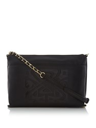 Biba Constance Crossbody Leather Bag Black