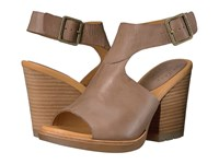 Kork Ease Linden Taupe Full Grain Women's Wedge Shoes