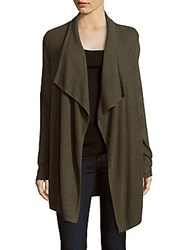 Design History Long Draped Open Front Jacket Charcoal