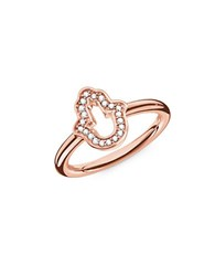 Thomas Sabo Hand Of Fatima Sterling Silver Ring Rose Gold
