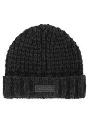Belstaff Black Chunky Knit Hat And Scarf Set