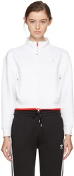 Adidas By Stella Mccartney White Cropped Barricade Climalite Tennis Jacket