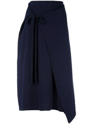 Joseph Drawstring Skirt Blue