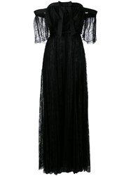 Giambattista Valli Bardot Lace Gown Women Silk Polyamide Viscose 42 Black