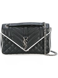 Saint Laurent Medium Classic Monogram Satchel Black