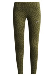 Nike Performance Power Epic Tights Legion Green Reflective Silver Oliv