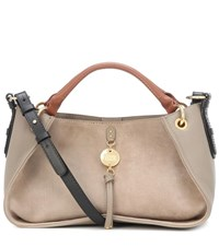 See By Chloe Luce Medium Leather Shoulder Bag Grey