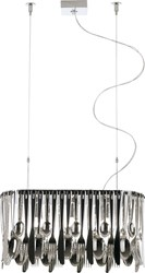Fabbian Hungry Pendant Lamp D76a01a Small Silver