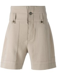 Ports 1961 Stitched Panel Shorts Nude Neutrals