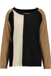 By Malene Birger Benouche Color Block Wool And Angora Blend Sweater Black