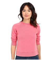 Free People Vintage Crop Pullover Red Women's Long Sleeve Pullover