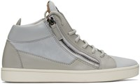 Giuseppe Zanotti Grey Suede London High Top Sneakers