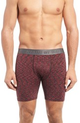 Naked Men's Philosophy Boxer Briefs Jungle Red