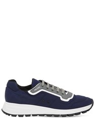 Prada Match Race Nylon Gabardine Sneakers Baltico