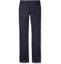 Brioni Livigno Stretch Denim Jeans Dark Denim