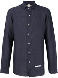 Dnl Designer Navy Shirt Blue