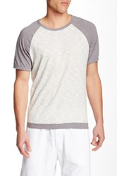 Mododoc Short Sleeve Raglan Sleeve Vintage Fit Tee Gray