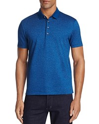 Boss Pitton Patterned Classic Fit Polo Shirt Blue