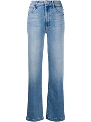 Mother High Waist Slit Jeans Blue