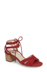 Bos. And Co. Zorita Sandal Red Nubuck Leather