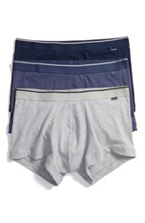Nordstrom Men's Men's Shop 3 Pack Stretch Cotton Trunks Navy Grey Blue
