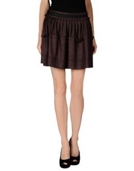 Gianfranco Ferre Gf Ferre' Mini Skirts Deep Purple