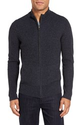 Velvet By Graham And Spencer Men's Kase Mock Neck Front Zip Cashmere Sweater