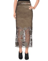 Mariagrazia Panizzi Skirts 3 4 Length Skirts Women Military Green
