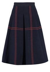 Patrizia Pepe Aline Skirt Navy Dark Blue
