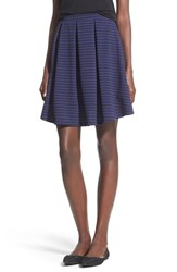 Junior Women's Painted Threads Pleated A Line Skirt