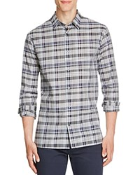 Vince Melrose Multi Plaid Slim Fit Button Down Shirt Plum