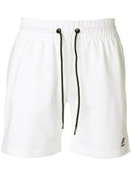 K Way Le Vrai Dorian Sport Shorts White