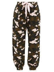 The Upside Camouflage Print Jersey Track Pants Multi