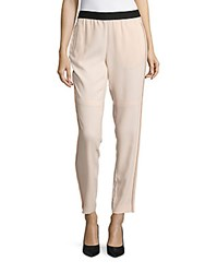 Maje Solid Ankle Length Pants Nude