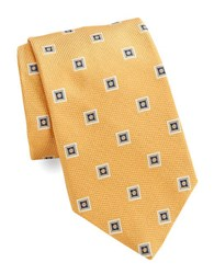 Brooks Brothers Classic Square Medallion Tie Yellow