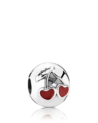 Pandora Design Pandora Clip Sterling Silver And Enamel Cherries Moments Collection